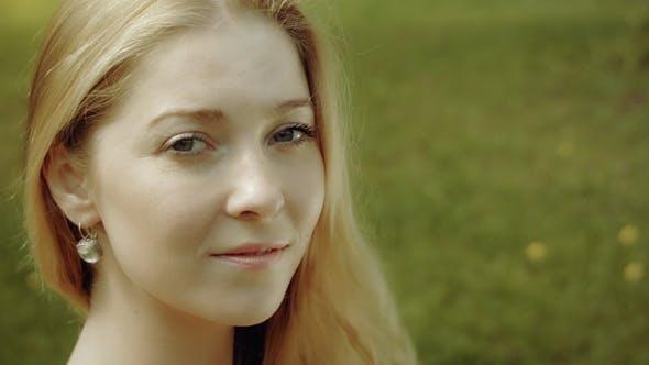 Summer Smiley Woman Portrait