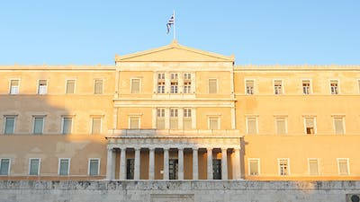 View of Greek Parliament, Athens, Greece