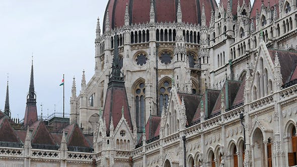 Thumbnail for View of Hungarian Gothic Parliament, Budapest, Hungary