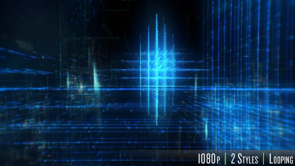 Thumbnail for Technology Data Grid in Cyberspace Background