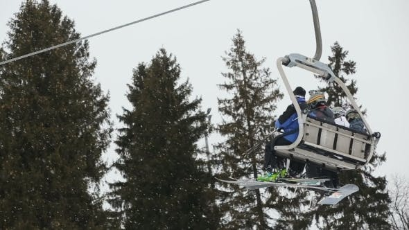 Thumbnail for Ski Chair Lift With Skiers
