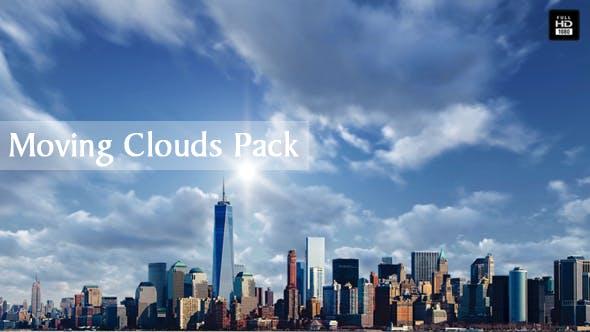 Moving Clouds Pack - 4 bewegliche Wolkenszene