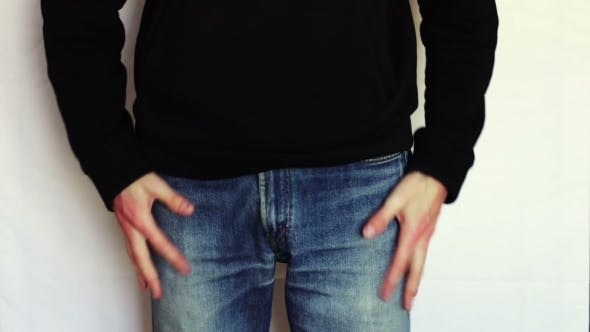 Thumbnail for Man Turns The Empty Pockets Of His Jeans. No Money.