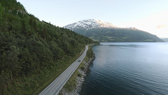 Thumbnail for Aerial Footage Road In Norway