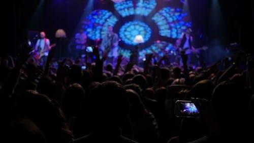 Concert Crowd Klatschende Hände