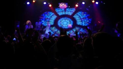 Rock Concert Crowd Klatschende Hände