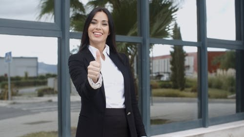 Successful Motivated Young Businesswoman
