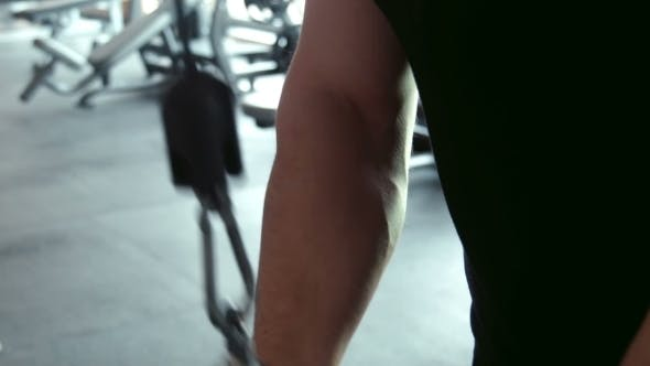 Thumbnail for Bodybuilder Doing Triceps Workout