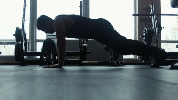 Thumbnail for Silhouette Of Young Man Doing Pushups