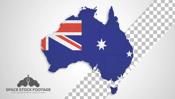 Thumbnail for Australia Map - States Combine