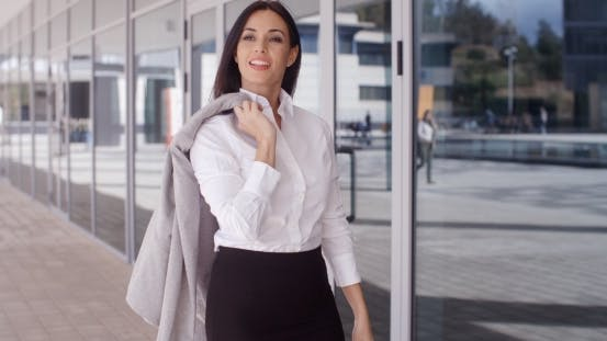 Thumbnail for Business Woman With Jacket Over Shoulder