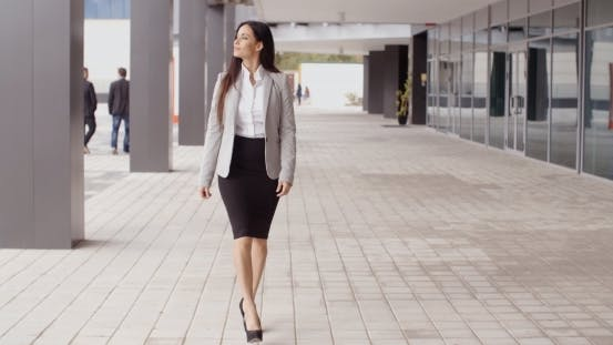 Thumbnail for Grinning Optimistic Professional Woman Walking