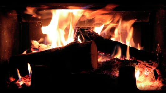 Thumbnail for Fire in a Fireplace