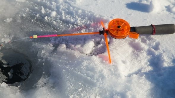 Thumbnail for Winter Fishing Rod And Fish On Ice