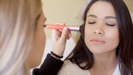 Thumbnail for Female Cosmetician Working With Client