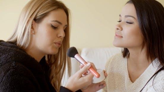 Beautiful Makeup Artist Working