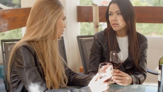 Thumbnail for Woman Talking To Friend Over Wine