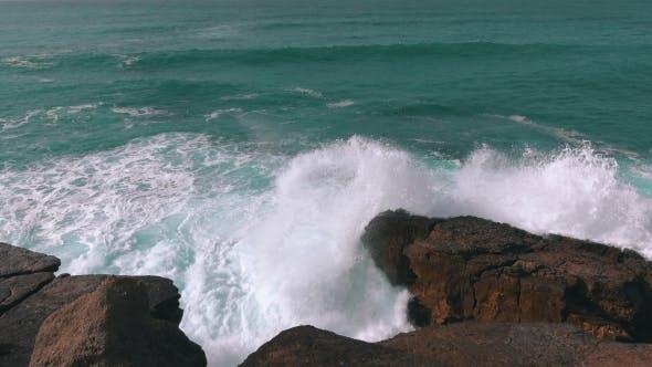 Thumbnail for Ocean Waves Breaking On Rock