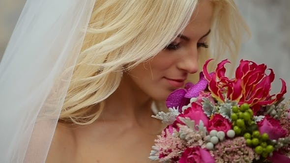 Thumbnail for Wedding Bride Holding Bouquet