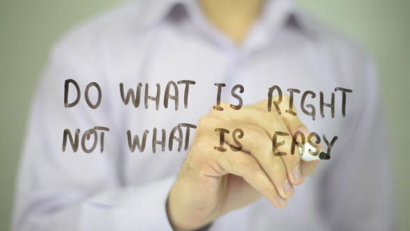 Thumbnail for Do What is Right, Not What is Easy