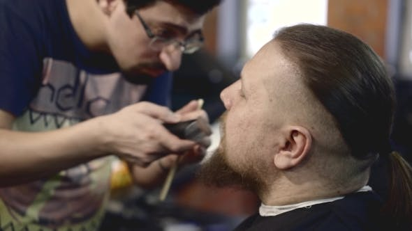 Thumbnail for Hairdresser Cutting Moustache