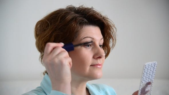 Thumbnail for Lash Mascara For Eyelashes, Woman Applying Make Up