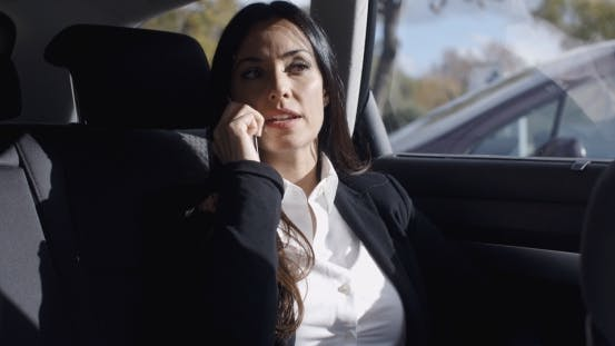 Thumbnail for Interior View Of Woman On Phone In Limousine