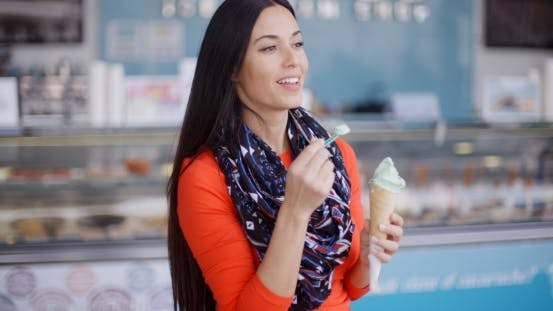 Attractive Stylish Young Woman In a Delicatessen