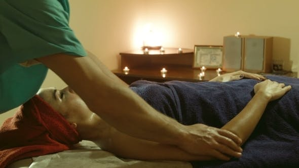 Thumbnail for Male Doing Massage On Hands In Spa Salon