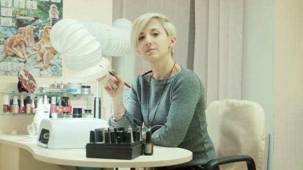 Thumbnail for Stylish Trendy Woman Look At Camera In Salon