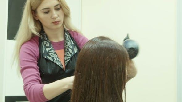 Thumbnail for The Hairdresser Dries Hair