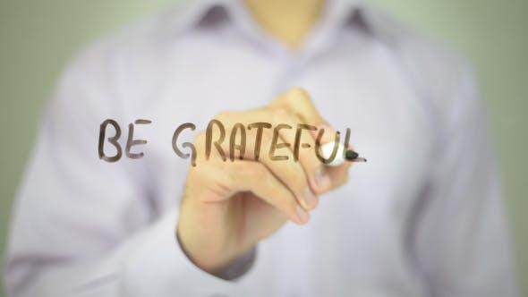 Soyez reconnaissants