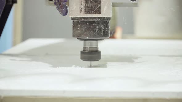 Thumbnail for Close-up of a Working Milling Machine