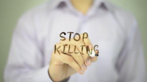 Hör auf zu töten.