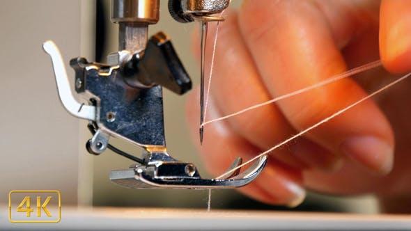 Tailor Preparing Sewing Machine 4K
