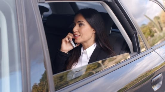 Thumbnail for Beautiful Business Woman On Phone In Automobile