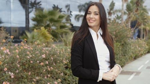 Charismatic Stylish Young Businesswoman
