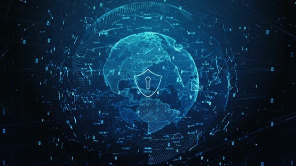 Shield Icon Of Cyber Security Digital Data 942