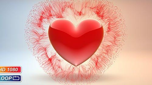 Pulsierendes Valentine`s Herz