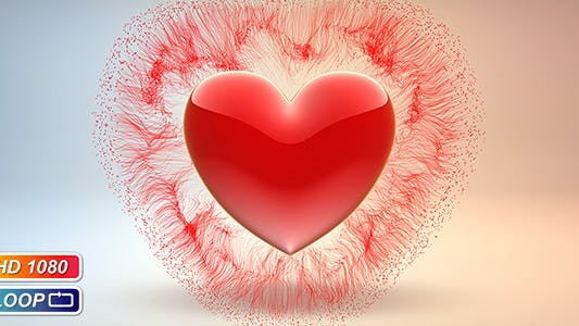 Cover Image for Pulsing Valentine`s Heart