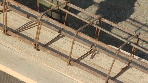 Reinforcing Cage On Desk