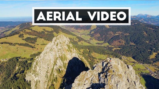 Thumbnail for Aerial Video of Mountain Peak in Switzerland II.