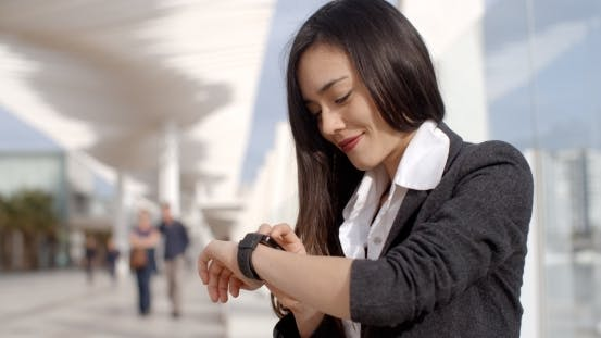 Thumbnail for Attractive Woman Checking The Time