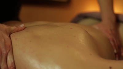 Massage On The Back Of a Man
