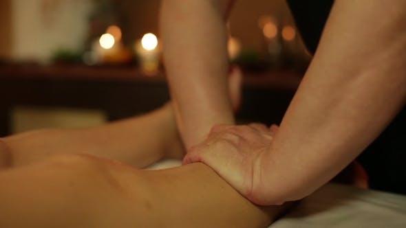 Thumbnail for Female Legs Massage In a Spa Salon
