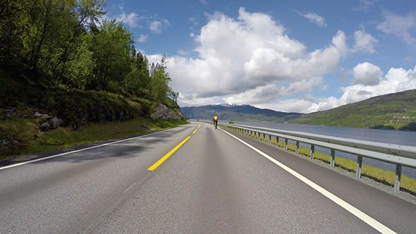 Thumbnail for Driving Car On A Road In Norway