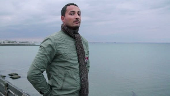 Thumbnail for Man Against The Backdrop Of An Overcast Sea