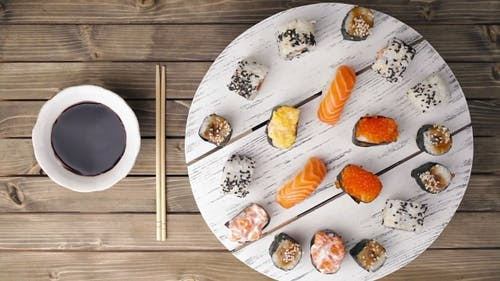 Asian Food And Sushi