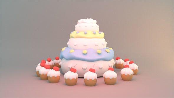 Thumbnail for 3-stöckiges Geburtstagskuchen