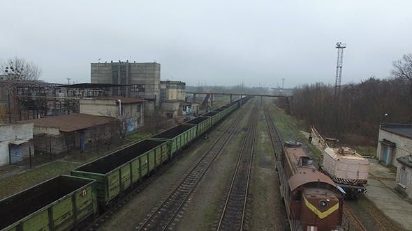Thumbnail for Freight Wagons In The Train Station